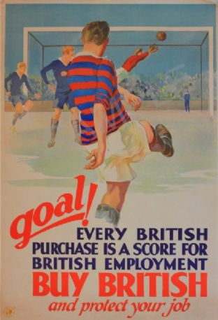 Retro Buy British Advert - Football Poster